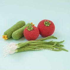 Amigurumi Vegetables and Foods Free Pattern – Free Amigurumi Crochet Patterns! Crochet Fruit, Crochet Food, Thread Crochet, Crochet For Kids, Crochet Crafts, Crochet Baby, Crochet Projects, Free Crochet, Knit Crochet