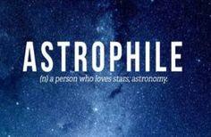 Love of stars/astronomy