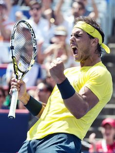 Rafael Nadal defeated Jerzy Janowicz in round 3 of the Rogers Cup in Montreal on Thursday, with a score of . The first set was even up until the la… Tennis Rafael Nadal, Rafael Nadal Fans, Nadal Tennis, Atp Tennis, Montreal, Rafa Nadal, Raging Bull, Sport Icon, Sports Images