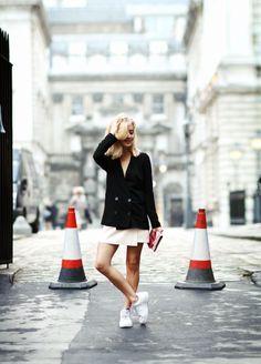 Whisper blog: Saia + Tênis (Sarah Mikaela - Framboise Fashion)