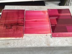 New color line 2014 Indianrose01 on 3 types of timber by ccoating.nl