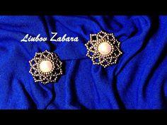 Flower Earrings, Beaded Earrings, Pearl Earrings, Beaded Jewelry Patterns, Beading Patterns, Diy Leather Bracelet, Beading Tutorials, Round Beads, Handcrafted Jewelry