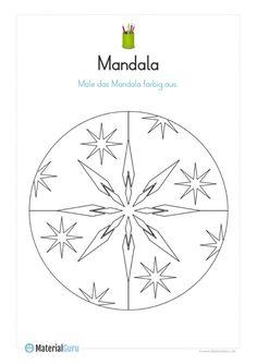 neu: ein kostenloses ausmalbild mit einem fußball-mandala. jetzt gratis downloaden