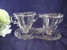 Fostoria Century Glass Sugar and Creamer Set by SecondWindShop, $35.00