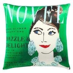 kate spade new york Dazzle and Delight Square Throw Pillow in Green/Multi