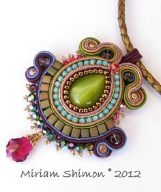 Purple and Green Soutache pendant | Flickr - Photo Sharing!