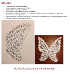 Crochet Butterfly Pattern, Bead Crochet Patterns, Crochet Motif, Crochet Stitches, Crochet Fairy, Crochet Angels, Pinterest Crochet, Crochet Symbols, Crochet Christmas Ornaments