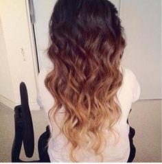 Dark brown to blonde.