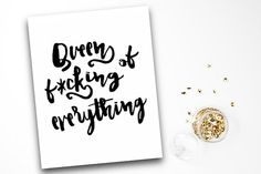 Typographic Quote Art Funny Inspirational by PrettyPennyPrints