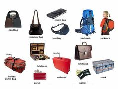 Different types of bags English lesson