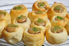 Party pigs (pigs in a blanket)  -- served at Jay Gatsby's parties.