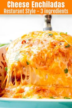 Super Easy Cheese Enchiladas Recipe - Only 3 Ingredients! You only need three ingredients to make these restaurant style cheese enchiladas with an optional homemade enchilada sauce to take them to the next level! Easy Cheese Enchiladas, How To Make Enchiladas, Sour Cream Enchiladas, Vegetarian Enchiladas, Homemade Enchiladas, Vegetarian Cheese Enchilada Recipe, Cheese Enchilada Casserole, Food Recipes, Eating Clean
