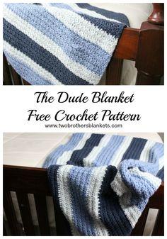 The Dude Blanket- Free Crochet Pattern Crochet Baby Blanket Free Pattern b98a9dcd4
