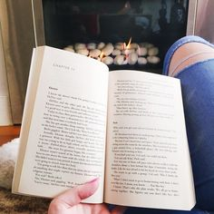 I don't think there's a better way to spend a Monday evening than in front of a fire with a good book! I'm currently reading Eleanor & Park by Rainbow Rowell. I'm still not sold that it's deserving of all the hype but I'm pushing through! What are you currently reading?