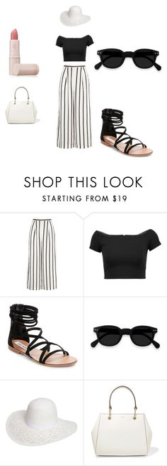 """Black&White"" by amela-t ❤ liked on Polyvore featuring Finders Keepers, Alice + Olivia, Steve Madden, Dorothy Perkins, DKNY and Lipstick Queen"