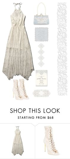 """Something Old,Something New, Something Borrowed,Something Blue"" by youaresofashion ❤ liked on Polyvore featuring мода, Abercrombie & Fitch, Balmain, Monsoon и lacedress"