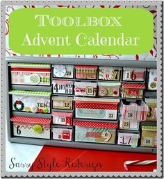 toolbox advent calendar with sassy style redesign pin