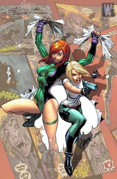 Danger Girl / Gen13 by J. Scott Campbell