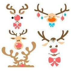 Cute Reindeer Christmas Cuttable Design Cut File. Vector, Clipart, Digital Scrapbooking Download, Available in JPEG, PDF, EPS, DXF and SVG. Works with Cricut, Design Space, Sure Cuts A Lot, Make the Cut!, Inkscape, CorelDraw, Adobe Illustrator, Silhouette Cameo, Brother ScanNCut and other compatible software.