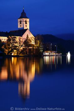 Blue Hour Reflectionss on the Water of Wolfgangsee ~ St. Wolfgang im Salzkammergut, Austria