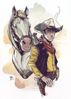 Lucky Luke | 70th Anniversary ^^ - #luckyluke #lucky #luke #jollyjumper #horse #western #cowboy #daisytown #comics #artwork #drawing #drawer #artist #creation #creative #artbook #tribute #inking #pencils #sketch #character #luckycomics #comicbook #art #portrait #dupuis #dargaud #bd #bandedessinee