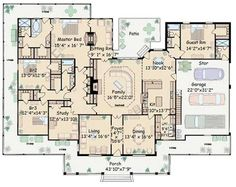 Floor Plan Single Story - need to swap the master and guest bedrooms.