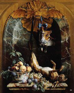 Desportes, Alexandre-François (1661 - 1743) - Still Life In A Marble Niche