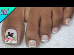 DECORACIÓN DE UÑAS PARA PIES MUÑEQUITA 🎎🇯🇵⛩️ - DOLL NAIL ART 🎎- FRENCH NAIL ART💓 - NLC - YouTube Manicure, Pedicure Nail Art, Toe Nail Art, Pretty Toe Nails, Pretty Toes, Classy Nails, Stylish Nails, French Pedicure, Magic Nails