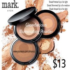 Get your glow on, gorgeously! Combines bronzer and highlighter for a shimmery, golden glow. With a swirl of your brush, the compact's three shades combine into one illuminating powder that brightens the skin or enhances a tan. Wear alone or over foundation, on shoulders or décolletage. Half-moon brush included. Oil-free and fragrance-free. 0.46 oz. net wt.