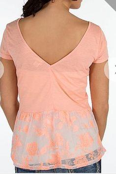 Daytrip Size Small or Medium Peach Babydoll Top NWT #Daytrip #Blouse
