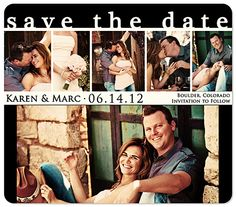 agiftfulheart.com  Custom Photo - Chic Date Save the Date Magnet