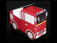 Traktatie brandweerauto met brandweerman Sam