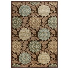 Nourison Graphic Illusions GIL13 Brown Area Rug 13285