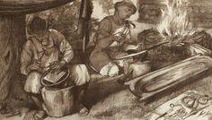 by laszlo gyula Warriors, Google, Painting, Art, Art Background, Painting Art, Kunst, Paintings, Performing Arts