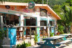 Beach bar hopping on Jost Van Dyke in the British Virgin Islands.