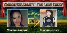 Check my results of Find Out Which Celebrity You Looks Like Facebook Fun App | Find your result Click Here