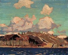 Rocky Shore, Tom Thomson, associated with Group of 7 Group Of Seven Artists, Group Of Seven Paintings, Paintings I Love, Oil Paintings, Abstract Paintings, Emily Carr, Canadian Painters, Canadian Artists, Landscape Art