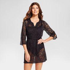 e85ed5878767c Women s Crochet 3 4 Length Sleeve Cover Up Dress - Merona™. Image 1