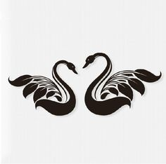 white tattoo swan - Google Search