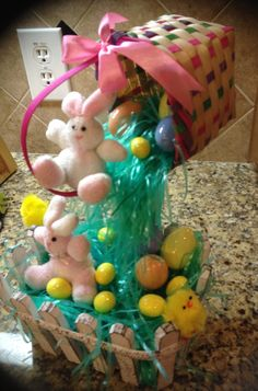 Taking the Floating Teacup concept to new levels!  Floating Easter Basket by SantasSecretShop on Etsy