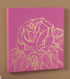 Watch for sales on smaller canvases. Paint the background several days before the program. Provide template and other materials
