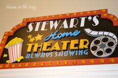 Theater Room sign..love this!