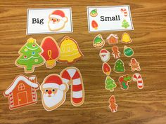 Resources, tips, and materials to help you, help children with autism - FREE Big/Small Christmas Sorts!