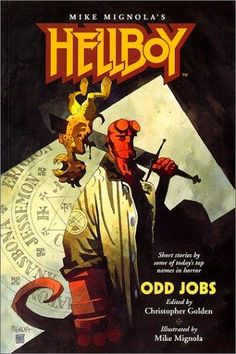 Some watercolor painted covers Mike Mignola did for the Hellboy prose novels Art And Illustration, Illustrations, Comic Book Artists, Comic Artist, Comic Books Art, Darkhorse Comics, Hellboy Tattoo, Comic Character, Character Design