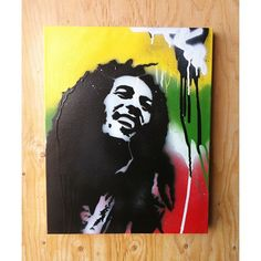 Bob Marley on canvas
