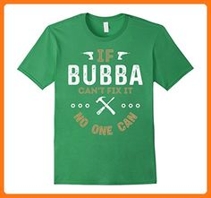 Mens If BUBBA Can't Fix it No One Can Vintage C3 Funny T-shirt Large Grass