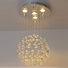 Fashion Crystal Living Room Pendent Lamp Creative Dining Room Pendent Lamp Staircase Pendent Lamp
