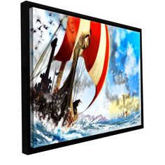 'Old Times 3' by Luis Peres Framed Graphic Art on Wrapped Canvas