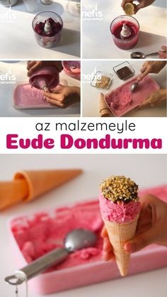 Evde Az Malzeme İle Gerçek Dondurma – Nefis Yemek Tarifleri Real Ice Cream With Less Ingredients At Home – Yummy Recipes Turkish Baklava, Fruit Photography, Sorbets, Yummy Food, Tasty, Iftar, Turkish Recipes, Homemade Beauty Products, Dessert Recipes