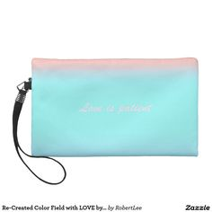 Re-Created Color Field with LOVE by Robert S. Lee Wristlet Clutch #Robert #S. #Lee#love #Scripture #Bible #Jesus #Christ #Lord #God #art #graphic #design #colors #bag #wristlet #purse #ladies #girls #women #love #style #fashion #accessory #for #her #gift #want #need #love #customizable
